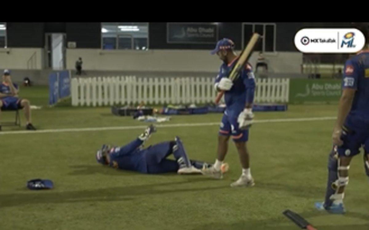Cricket Image for VIDEO : थककर मैदान पर गिर पड़े ईशान किशन, फिर भी पार्थिव पटेल को नहीं आया तरस