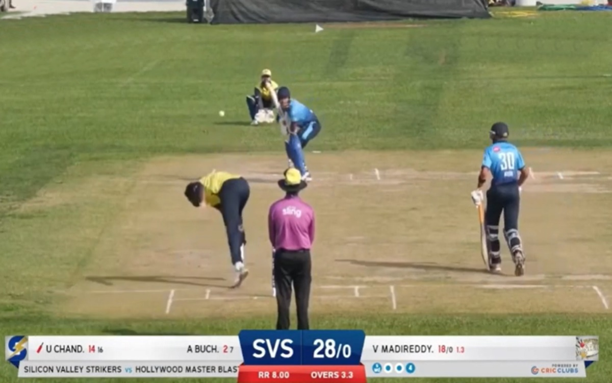 Cricket Image for Minor Cricket League Usa Unmukt Chand Smased Total 304 Runs In 8 Matches