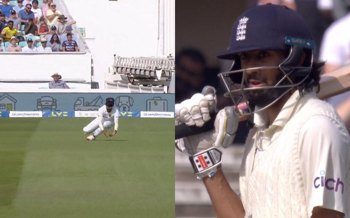 Cricket Image for VIDEO : 'सिराज ने कैच छोड़ा या मैच', जडेजा की गेंद पर मिला हमीद को जीवनदान
