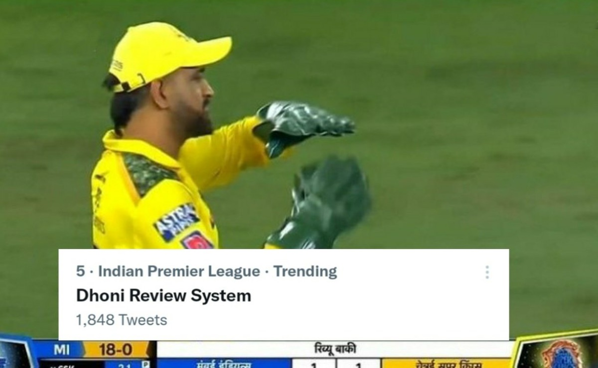 Cricket Image for Csk Vs Mi Ipl 2021 Ms Dhoni Review System Returns Watch Video