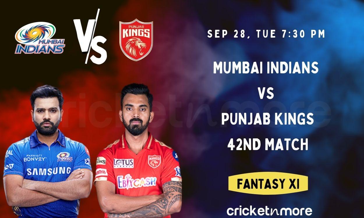 Cricket Image for Mumbai Indians vs Punjab Kings: 42nd IPL Match Prediction, Fantasy XI Tips & Proba