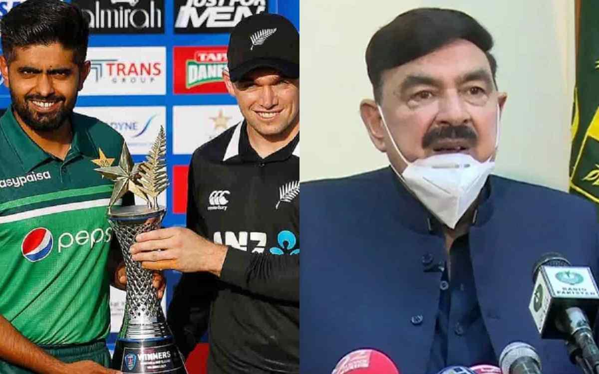 Cricket Image for  'न्यूजीलैंड का पाकिस्तान दौरा इंटरनेशनल साजिश के तहत रद्द हुआ', मामले पर मंत्री अ