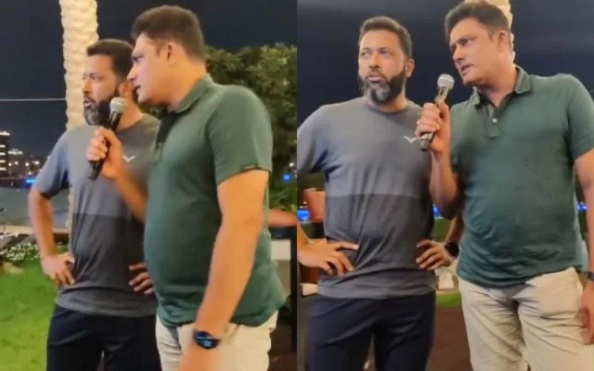 Cricket Image for VIDEO : जाफर और कुंबले ने गाया गाना, फैन बोला- 'सर टोनी कक्कड़ का करियर बर्बाद कर