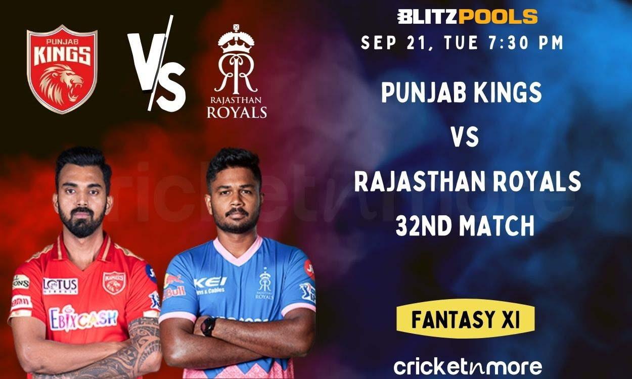 Cricket Image for Punjab Kings vs Rajasthan Royals, 32nd IPL Match – Blitzpools Cricket Match Predic
