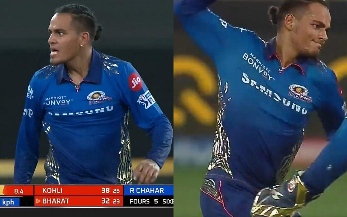 Cricket Image for VIDEO : राहुल चाहर ने फिर खोया आपा, आउट करने के बाद दिया जोशीला 'Send Off'
