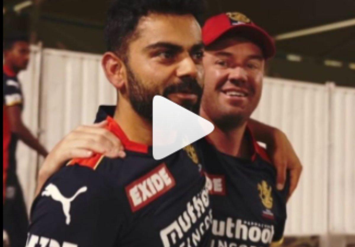 Cricket Image for VIDEO : डी विलियर्स से मिलकर फूले नहीं समाए विराट, सिराज और कोहली का कुछ ऐसे हुए स