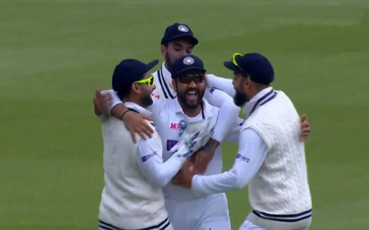 Cricket Image for Rohit Sharma Brilliant Catch To Dismiss Dawid Malan Watch Video