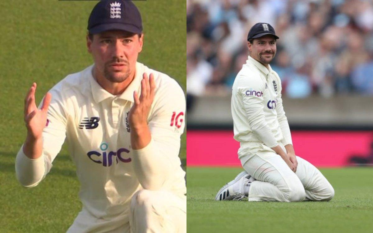 Cricket Image for VIDEO : इंग्लैंड के लिए 'विलेन' बने रोरी बर्न्स, दो दिन में टपकाए हिटमैन के दो कैच