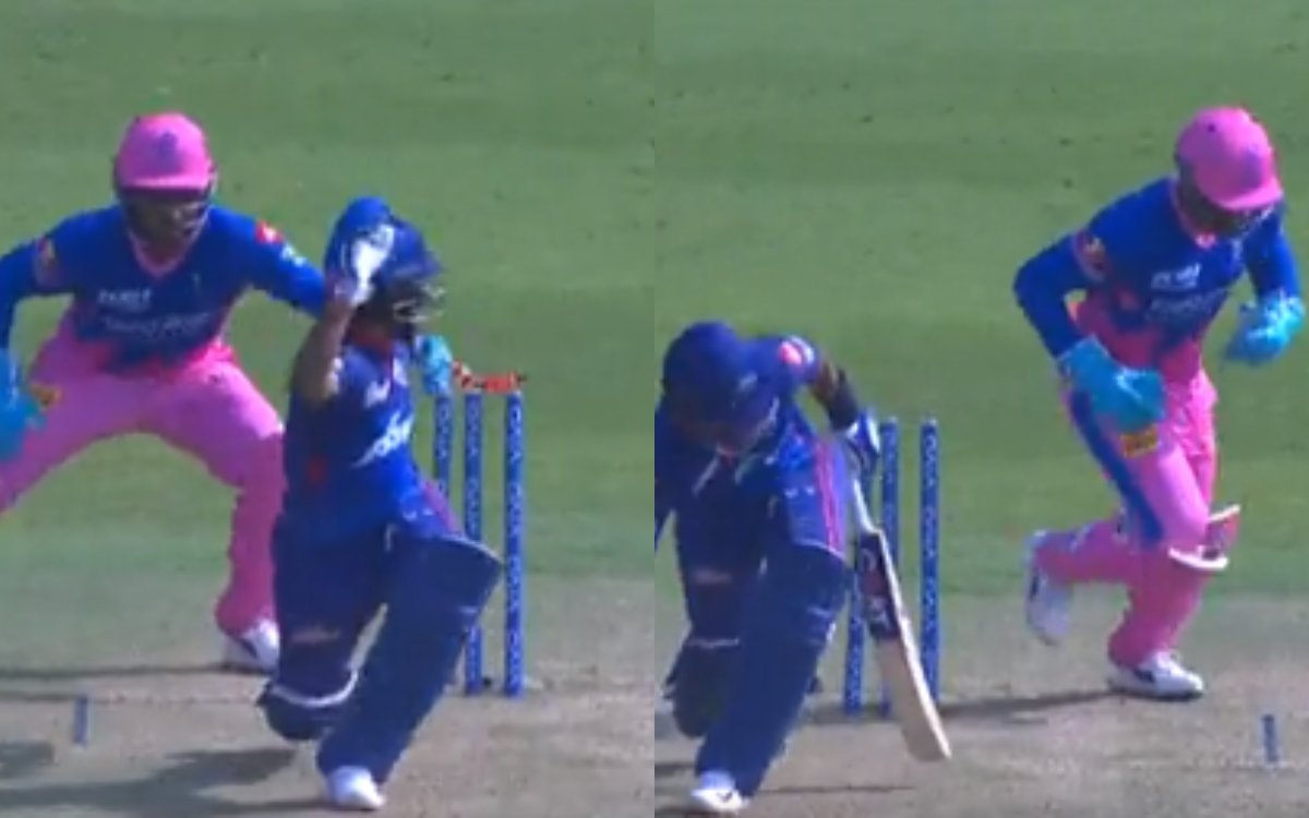 Cricket Image for VIDEO : संजू ने दिखाई चीते जैसी फुर्ती, 1 सेकिंड से भी कम में बिखेर दी अय्यर की गि