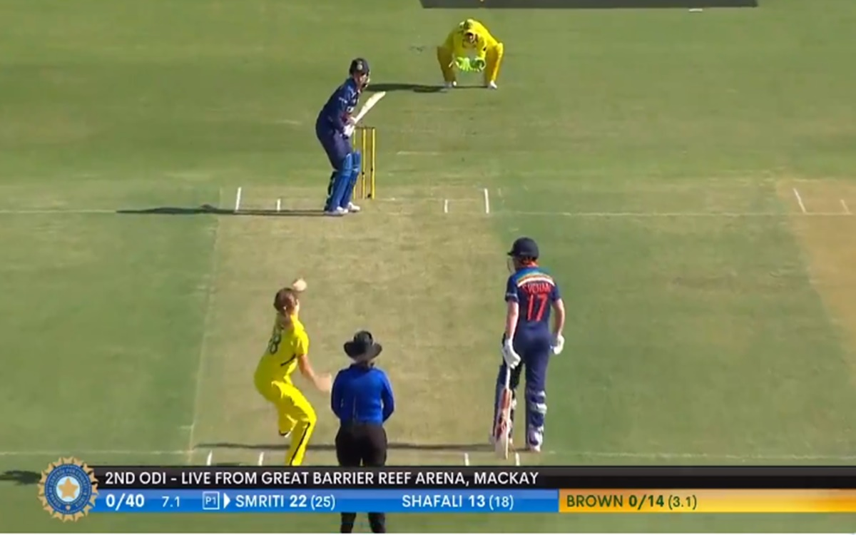 Cricket Image for Ind W Vs Aus W Three Boundaries In The Over For Smriti Mandhana Watch Video