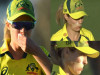 Cricket Image for Australia Women Vs India Women Sophie Molineux Copping A Nasty Bouncing Ball To He