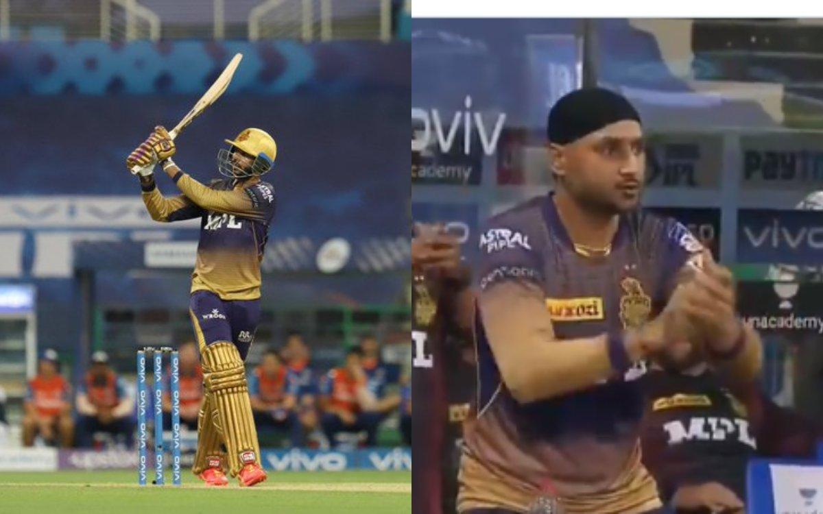 Cricket Image for VIDEO: वेंकटेश अय्यर का सिक्स देखकर भज्जी को याद आए 'बेन स्टोक्स'
