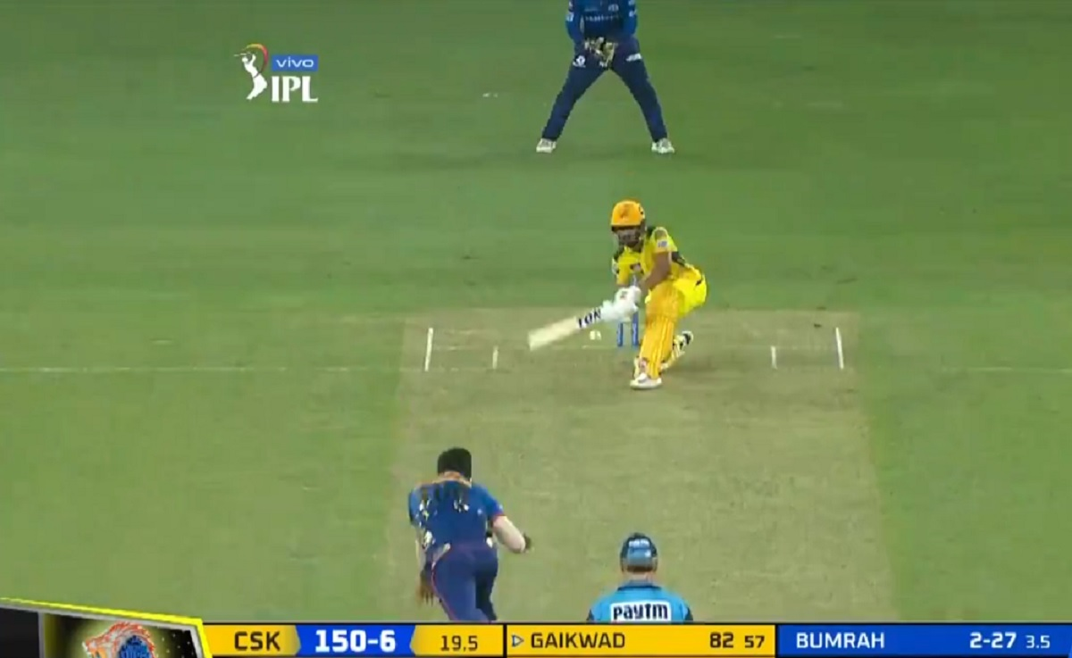 Cricket Image for VIDEO: Ruturaj Gaikwad Slog Sweeps Jasprit Bumrah For A Six