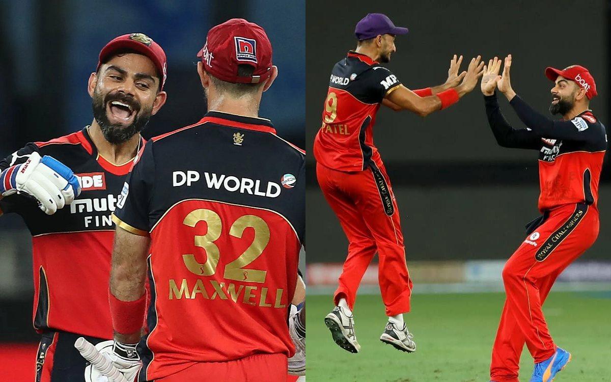 Cricket Image for Virat Kohli Heavily Praises Maxwell & Harshal After Victory against MI