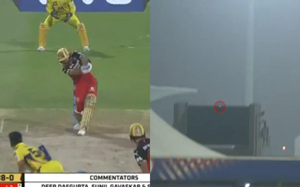 Cricket Image for VIDEO : विराट के बल्ले से निकला 'No Look Six', स्टेडियम के बाहर जाकर गिरी गेंद