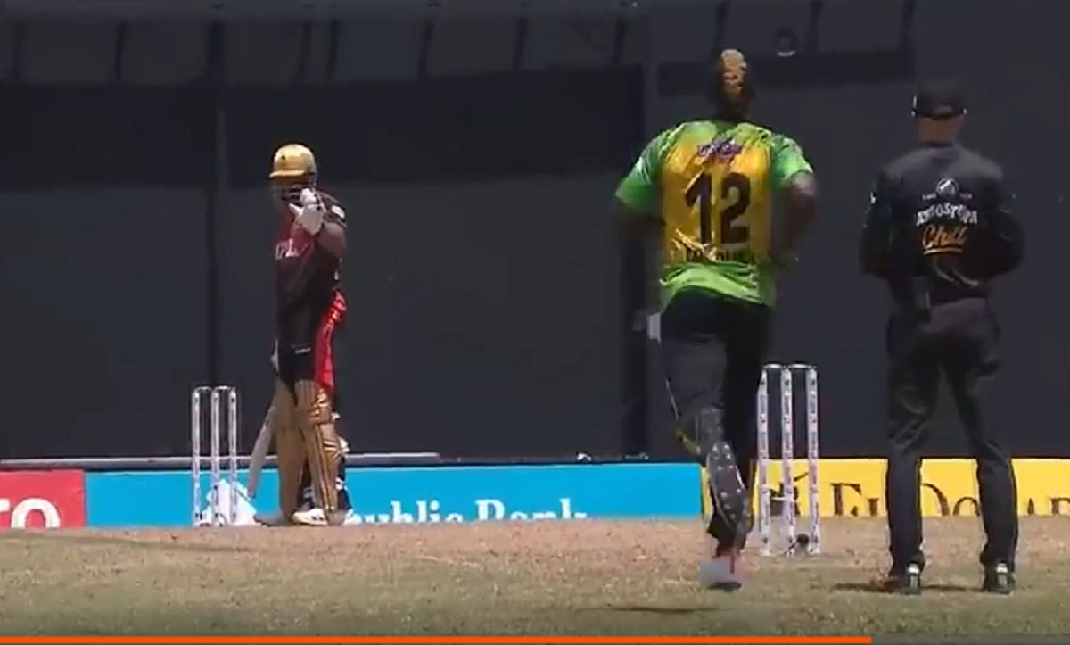 watch - Pollard-Russell tension in between the ground during CPL 2021