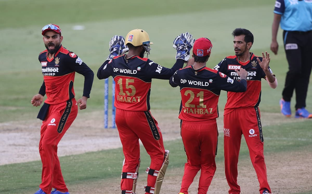 RCB win by 6 runs and are through to the IPL 2021 playoffs