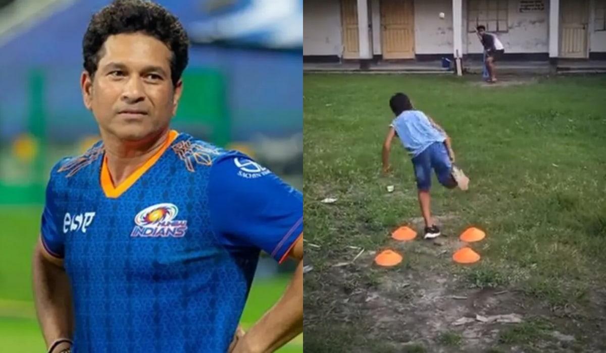 Sachin Tendulkar impressed by kid's deceptive leg-spin bowling