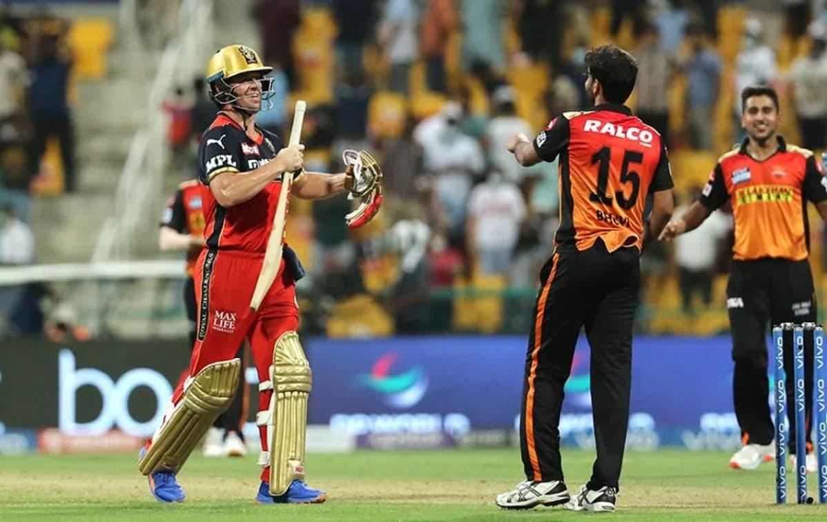 Cricket Image for IPL 2021: ਹੈਦਰਾਬਾਦ ਨੇ ਆਰਸੀਬੀ ਨੂੰ 4 ਦੌੜਾਂ ਨਾਲ ਹਰਾਇਆ, ਡਿਵਿਲੀਅਰਜ਼ ਨਹੀਂ  ਪਾਰ ਕਰਵਾ ਪਾਇਆ