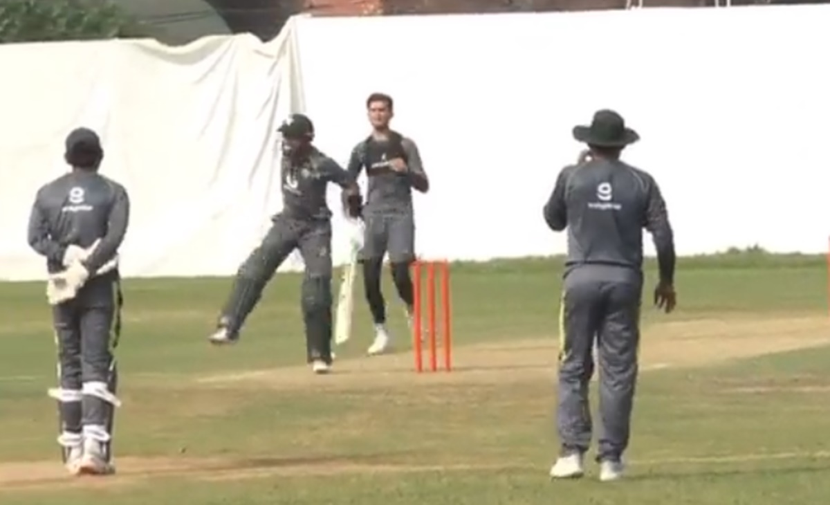 Cricket Image for T20 World Cup Uae Mohammad Rizwan Faced Shaheen Afridi Brutal Snorter Watch Video