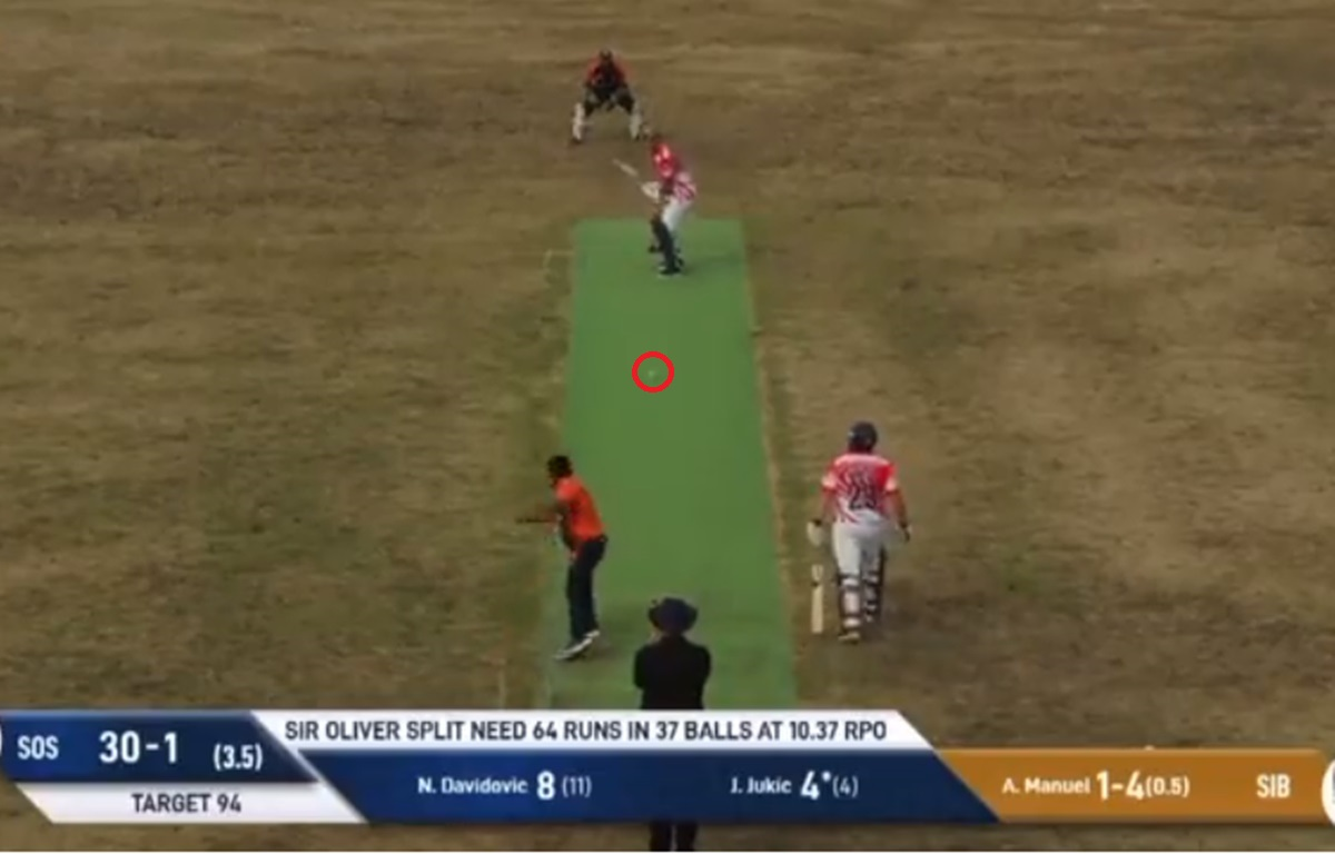 Cricket Image for Bizarre Incident In Cricket Field Batter Does A 360 At The Crease Watch Video