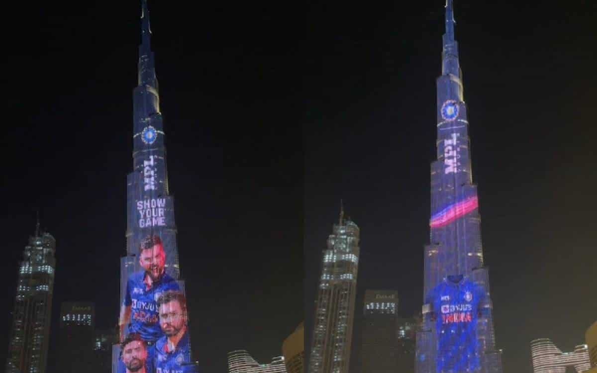 Cricket Image for VIDEO: New Indian Team Jersey Displayed At Burj Khalifa