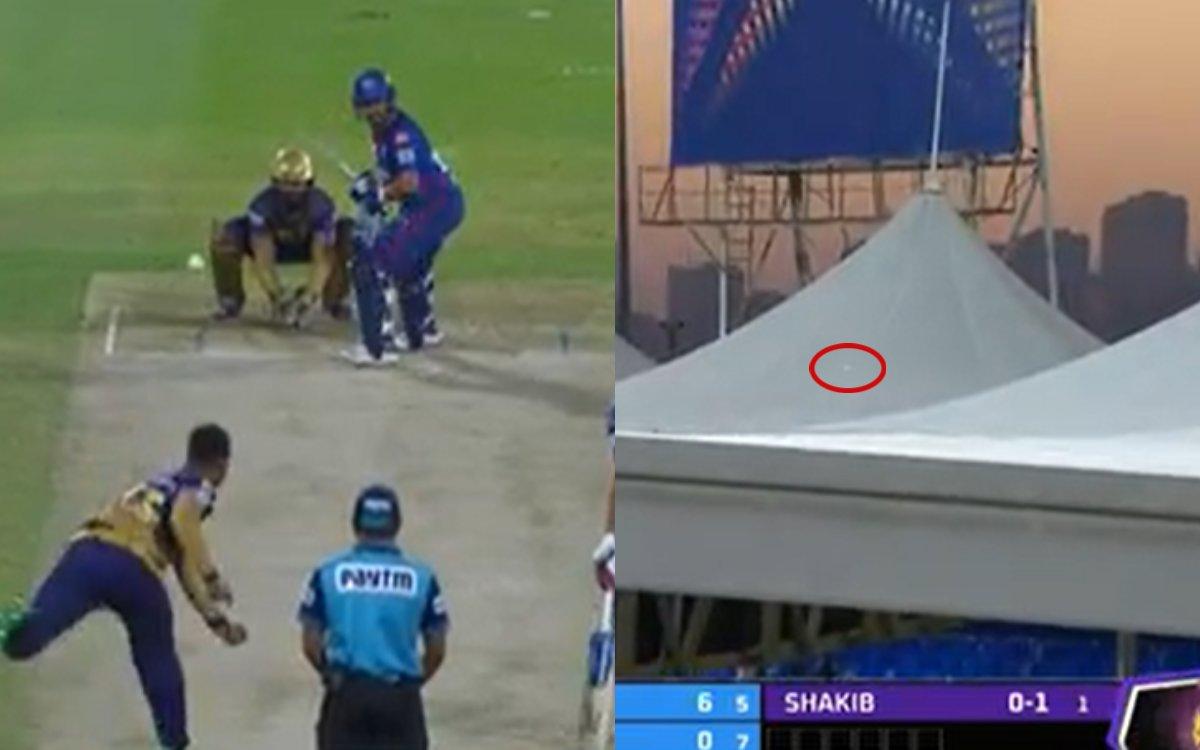 Cricket Image for VIDEO : पृथ्वी ने शाकिब को मारा 90 मीटर लंबा छक्का,  स्टेडियम की छत पर जाकर गिरी ग