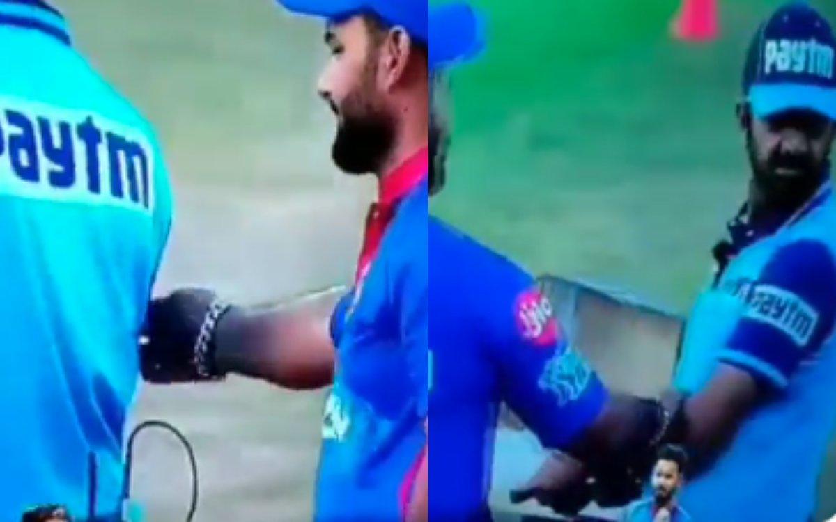 Cricket Image for VIDEO : अंपायर के उंगली कर बैठे ऋषभ पंत, अनिल चौधरी की सिट्टी-पिट्टी हुई गुल