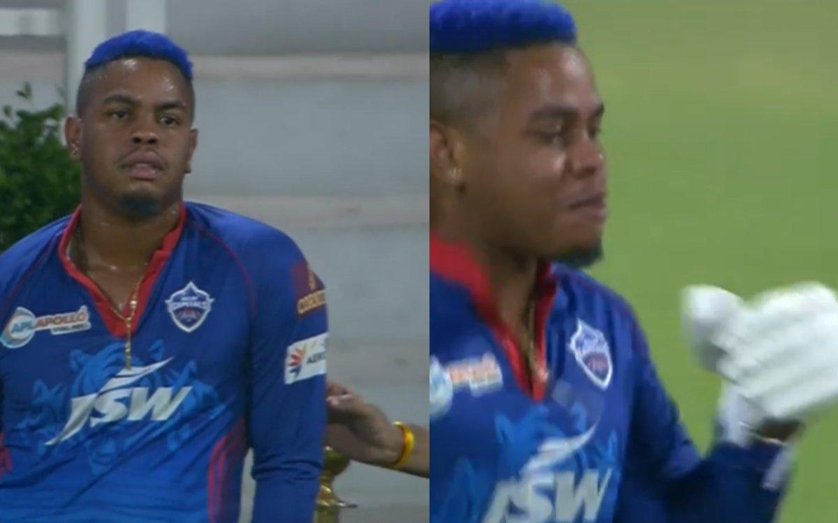 Cricket Image for VIDEO : डगआउट में पहुंच गए थे हेटमायर, 2 मिनट तक चला हाई वोल्टेज ड्रामा
