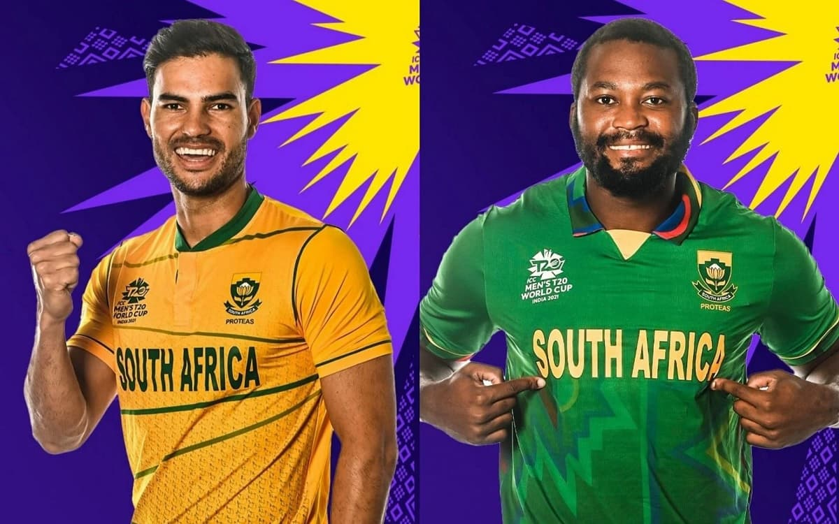 Cricket Image for South Africa Reveals 2 Jerseys For T20 World Cup