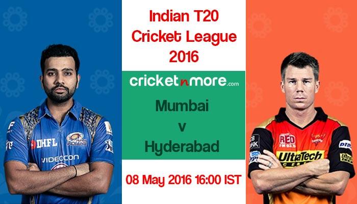 आईपीएल 2016: मुंबई और हैदराबाद के बीच कड़े मुकाबले की उम्मीद