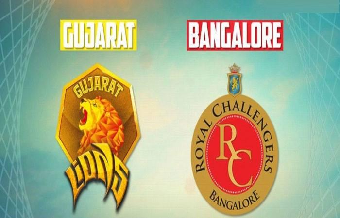 आईपीएल 2016: गुजरात लॉयन्स बनाम रॉयल चैलेंजर्स बेंगलोर