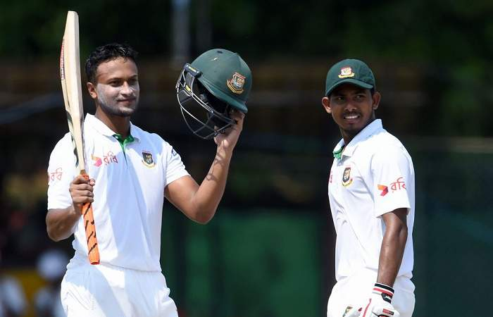 Shakib Al Hasan hundred helps Bangladesh solidify strong position