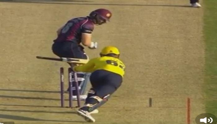 जब विरोधी विकेटकीपर ने बल्लेबाज को हिट विकेट होने से बचाया