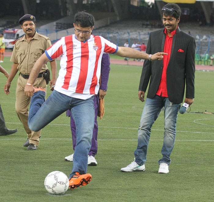 Hd Image for Cricket Former Cricketer Sourav Ganguly during Indian Super League promotion in Kolkata